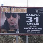Amministrazione Giorgino: sabato 31 luglio concerto di Luca Carboni per i cento giorni di giochi in Piazza Catuma