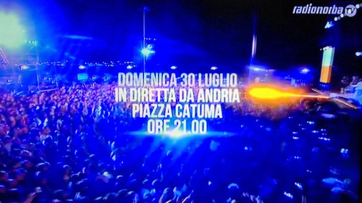 Battiti Live domenica 30 luglio ad Andria