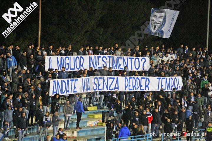 Fidelis Andria, De Cosmo-Dinisi: i tifosi non li vogliono, il presidente ne prende atto, loro non ci stanno