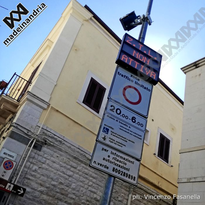 Andria, al via oggi la Zona Traffico Limitato nel centro storico