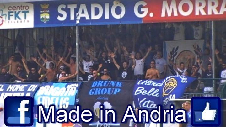 Ultras Andria a Vallo della Lucania. Gelbison - F. Andria 2-0