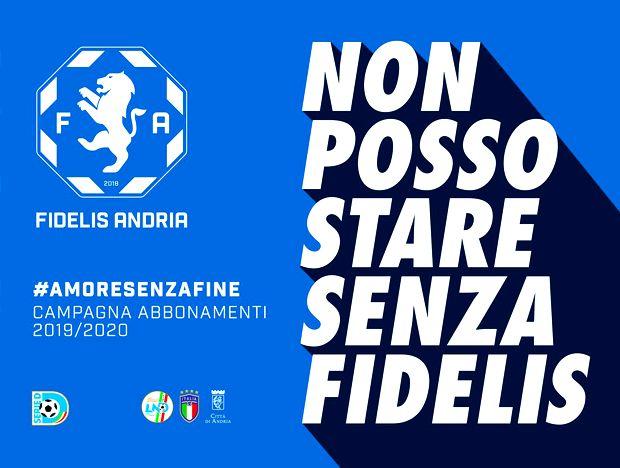 Fidelis Andria, partita la campagna abbonamenti 2019-2020