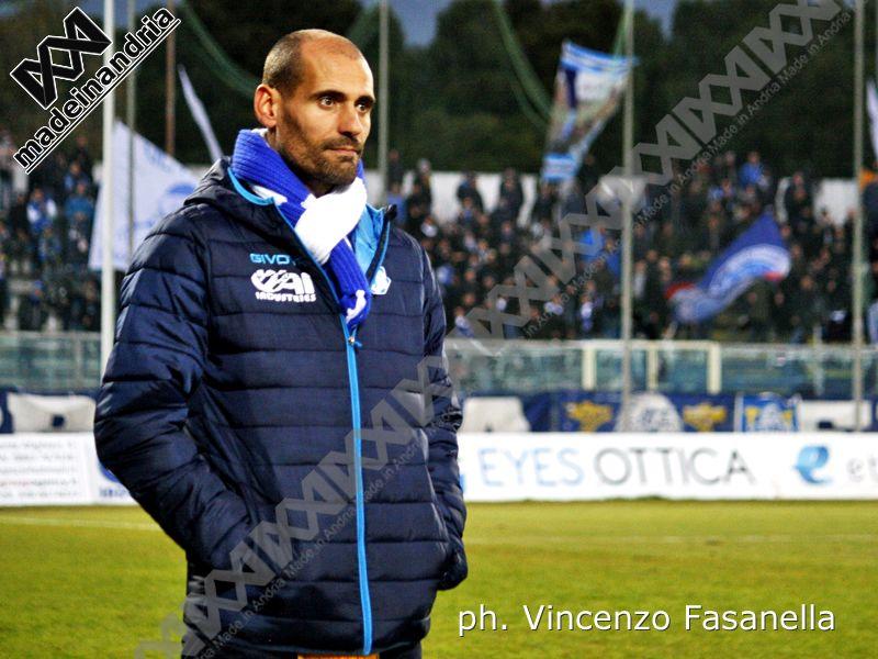Fidelis Andria, rinnovato contratto a mister Alessandro Potenza