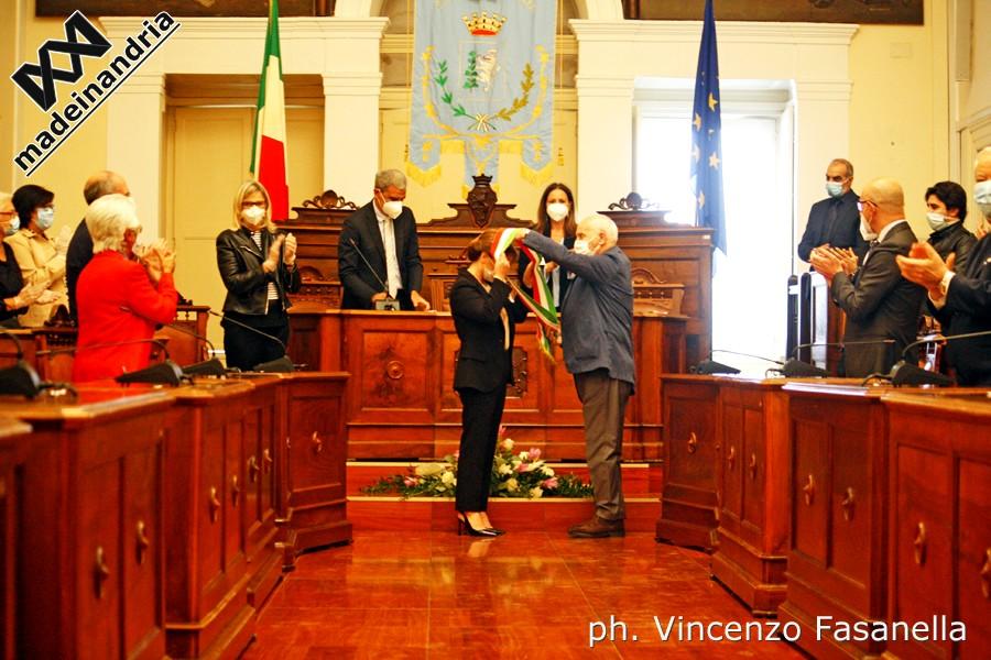 Cerimonia di proclamazione del neo eletto sindaco di Andria, Giovanna Bruno